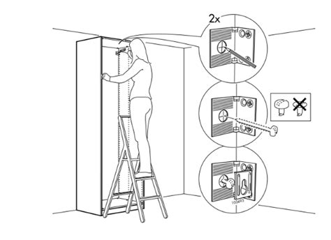 securing  furniture   wall flat pack
