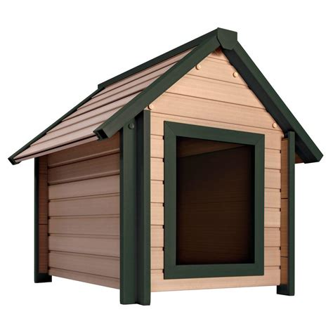 homedepot dog house new age pet eco concepts bunkhouse x large dog house ecoh103xl the home depot
