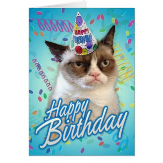grumpy cat birthday card template personalised birthday day cards zazzle