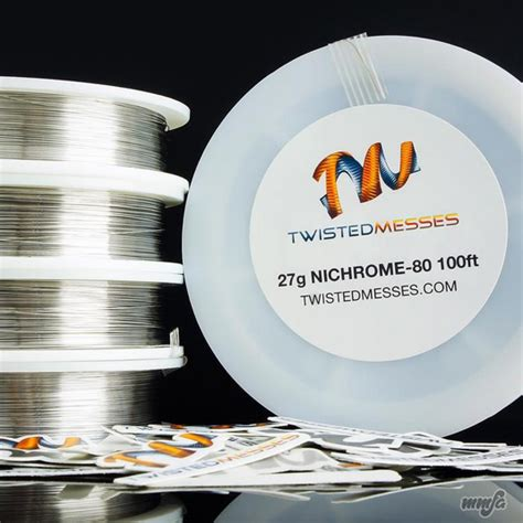 Twisted Wire Nichrome 80 26x2 twisted messes nichrome 80 twisted messes