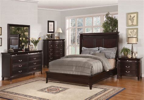 4pc bedroom set save big on the espresso manhattan ii 4pc bedroom set california king