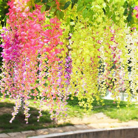 in home decorating wisteria flowers and gifts apricot 105cm fake wisteria flower vine artificial flowers