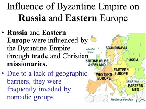 The Byzantine Empire Russia And Eastern Europe Outline Map by The Byzantine Empire Russia And Eastern Europe Ppt