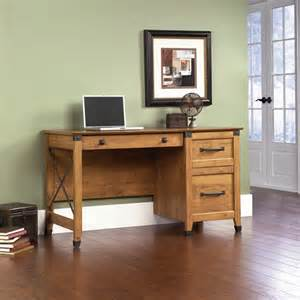 sauder registry row desk pine walmart