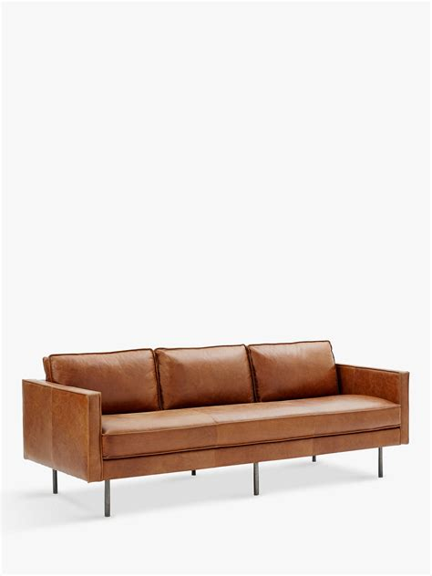 elm axel sofa review elm axel large 3 seater sofa leather at
