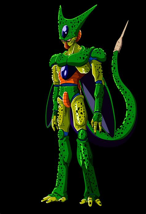 dbz cell imperfect more dbz pics http www z fighters android saga vs android 16 imperfect cell