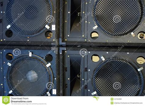 Speaker Acr Line Array line array speakers stock image image of attention
