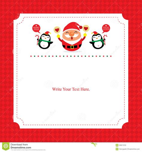 free santa card templates card template with santa claus stock vector