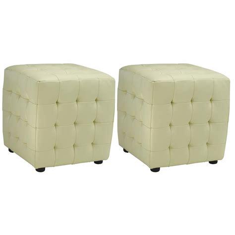 ottoman set of 2 safavieh jane off white accent ottoman set of 2 hud4024d