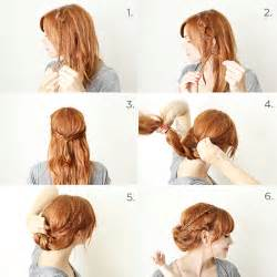 how to braid hair step by step how to style a braided chignon a beautiful mess