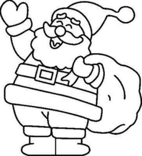 christmas santa coloring pages free christmas coloring