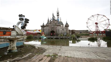 theme park uk new dismaland banksy s grim new art theme park cnn com