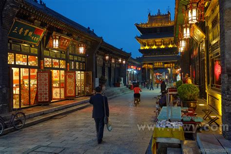 the old town of pingyao april 2014 shanxi province