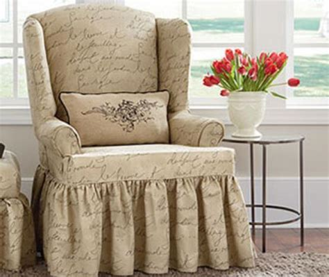 waverly slipcovers sure fit pen pal by waverly wing chair slipcover ebay