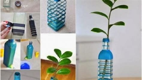 cara membuat kerajinan tangan vas bunga dari botol aqua membuat vas bunga dari plastik