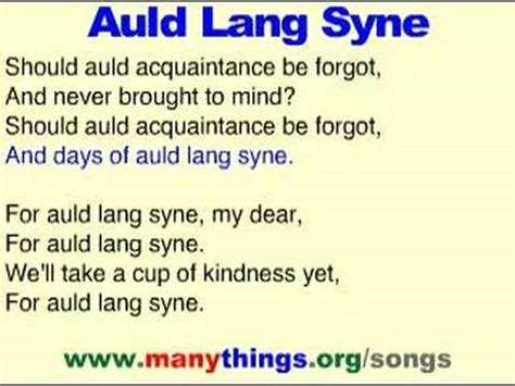 sign up new year song auld lang syne learn a song podcast for new year s