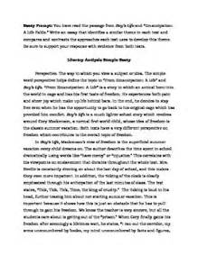 Exles Of Literary Analysis Essay by Two Literary Analysis Sle Essays Parcc 6 8 By