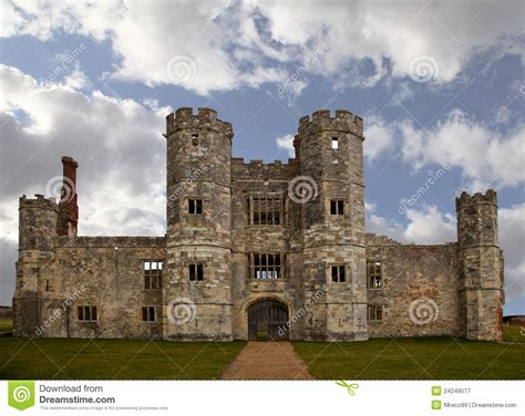 old castle old castle ruin in england with cloudy sky royalty free