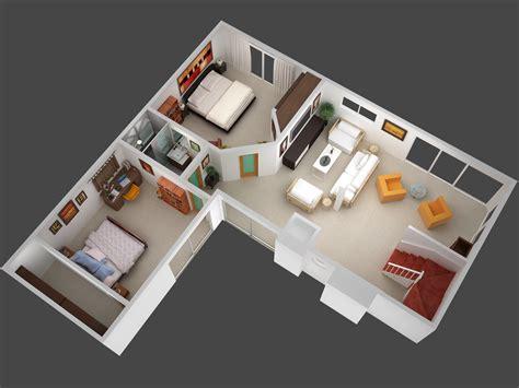 floor plan in 3d 3d mansion floor plans 3d plan view render of unit 5 jpg