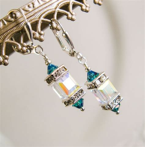Rhinestone Cube Earrings discover and save creative ideas