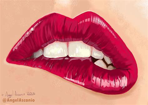 labios mordidos lip bite by angelascanio on deviantart