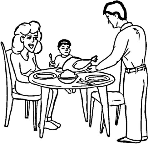 coloring pages of a family eating family dinner coloring page super coloring