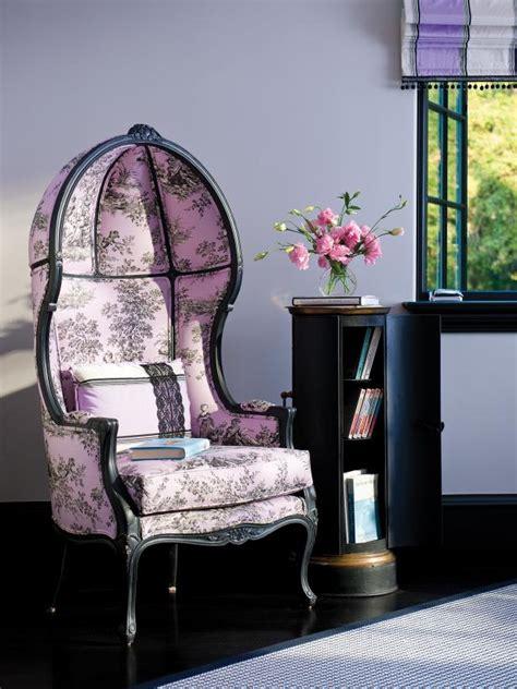purple shabby chic bedroom  decorative reading chair hgtv