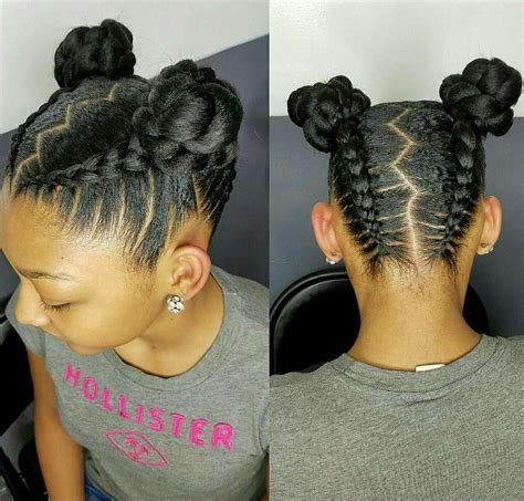 kids flat braided bun hairstyles natural hair styles for kids and teens buns and updo s