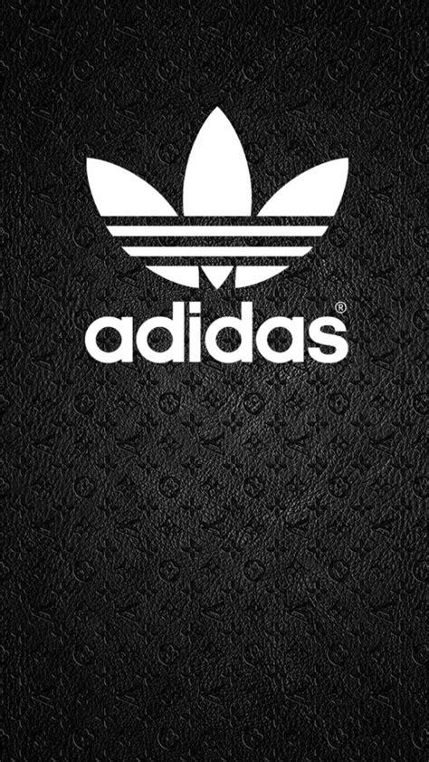 adidas logo wallpaper black adidas logo white on black bg wallpaper background