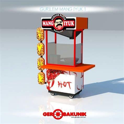 desain gerobak ice cream gerobak gurilem mang iyuk desain gerobak unik pinterest