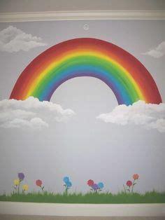 rainbow wall murals rainbow wall decal bedroom rainbows rainbow wall