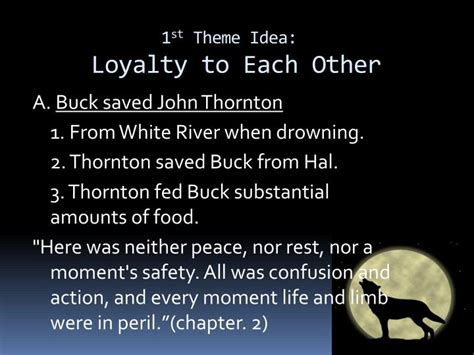 themes in jack london s call of the wild ppt quotes and themes call of the wild by jack london