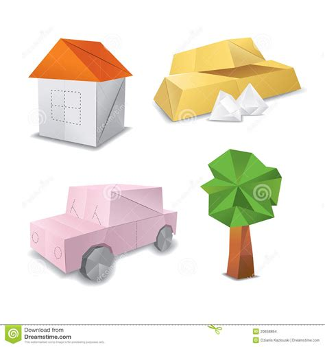 Origami Set For - origami set symbol stock images image 20658864