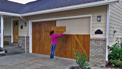 Garage Door Skins Garageskins Give You A Wood Look Without The Cost