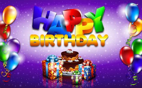 Balon Cake Happy Birthday happy birthday balloons wallpaper gallery