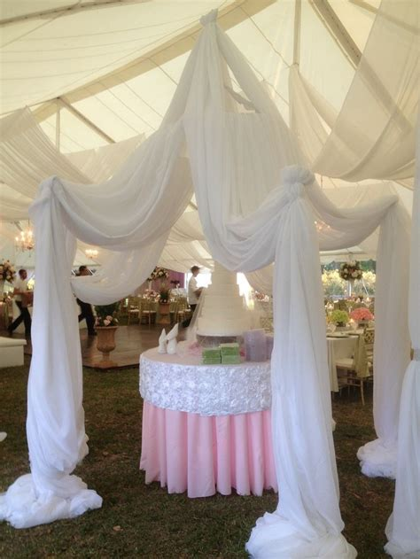Wedding, wedding ideas, wedding decor, drapery, cake stand