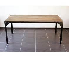 table basse industrielle 235 table industrielle de m 233 tal et de bois livingo