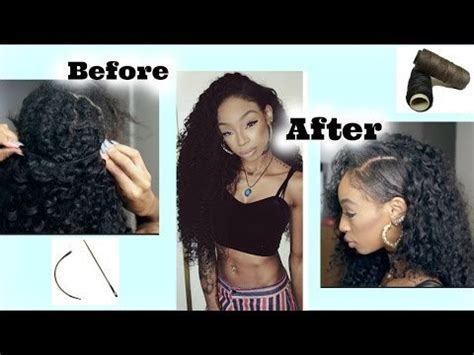 styles to do sew in withh shaved side how to sew in curly hair fake shaved side style sharee