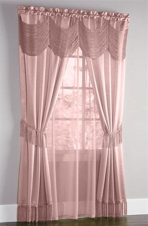 halley complete curtain set mauve achim draperies