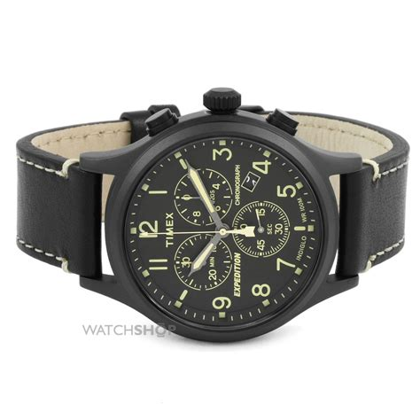 Expedition E6318 Black Leather s timex expedition chronograph tw4b09100