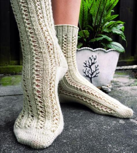 pattern for socks in double knitting lace sock patterns for summer knitting