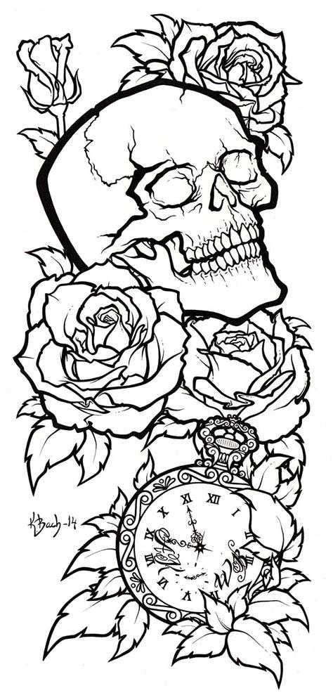 line drawing tattoos skull design lineart by blueundine on deviantart