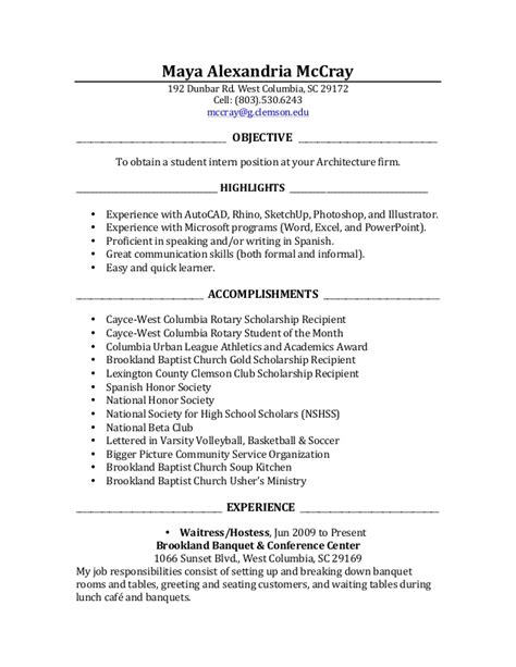 Internship Resume Sle For Accounting Students intern sle resume 28 images objective of resume for
