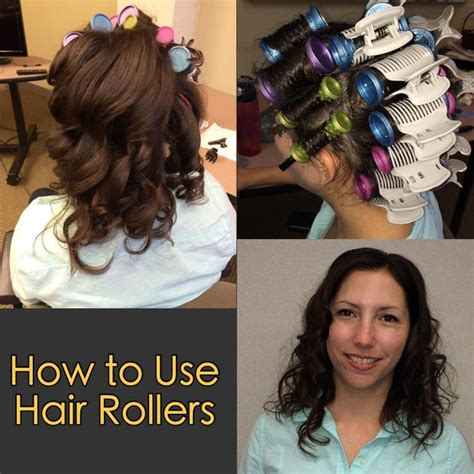 how to section hair for hot rollers how to use hair rollers