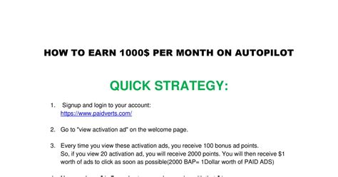 how to m how to earn 1000 per month pdf docdroid