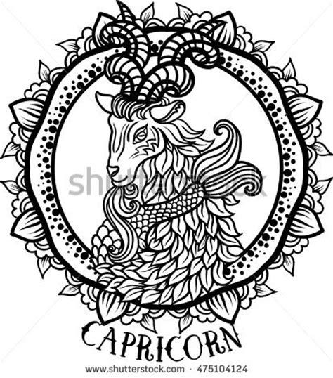 detailed libra in aztec filigree line zentangle style ornate flower crown leaves stock vector