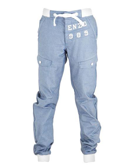light blue jean joggers boys enzo jogger cuffed light blue denim uk