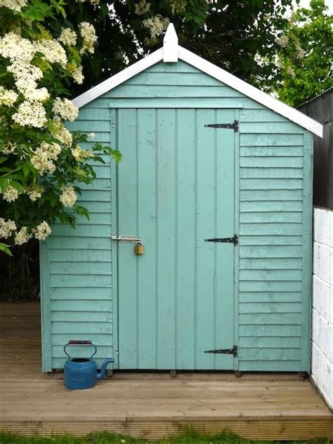 Painted Shed by Friendly Cottage Garden