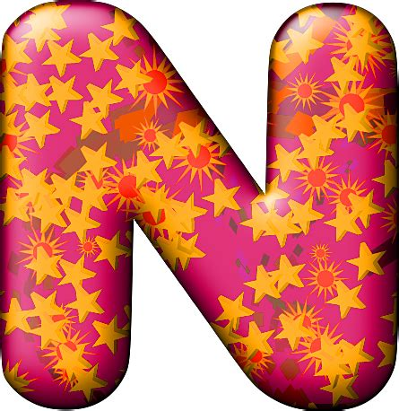 Florida Cool by Presentation Alphabets Party Balloon Warm Letter N