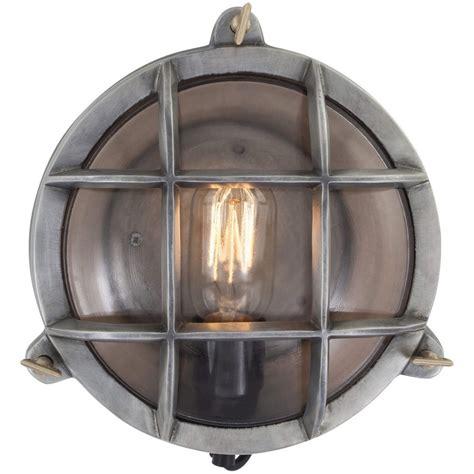 flush mount wall light vintage industrial style retro bulkhead wall light